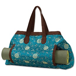 patterned yoga mat tote