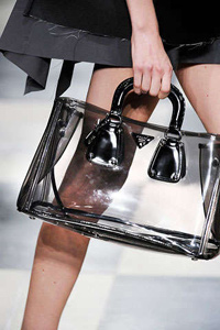 clear prada tote for spring 2010