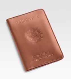 psycho bunny leather passport case