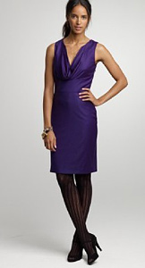 J. Crew purple metro 120s dress