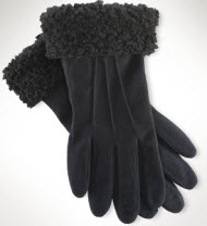 ralph lauren sherling suede gloves