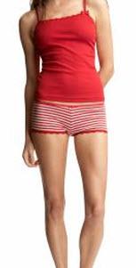 red and white pajamas