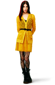 rodarte for target yellow dress and cardigan