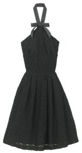 Rodarte for target black halter dress