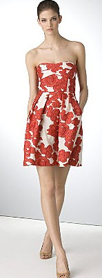 Cynthia Steffe floral red and white dress