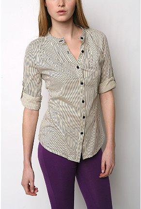 seersucker bib blouse