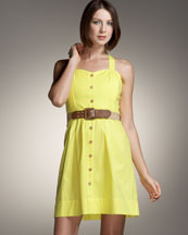 Shoshanna Belted Cotton Dress