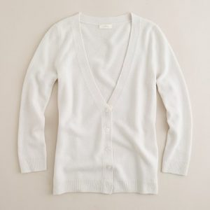 silk trim cashmere cardigan