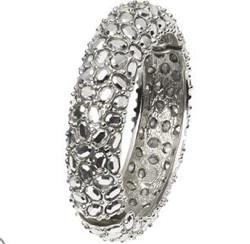 silver pave bangle