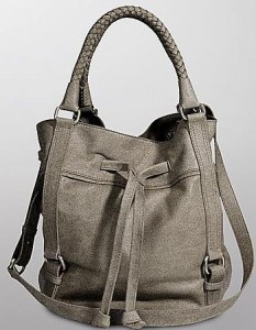 silverlake drawstring leather tote