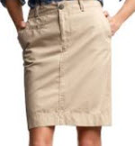 gap khaki fatigue skirt