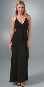 splendid black modal maxi dress