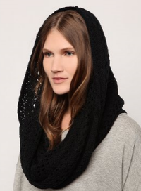 staring at the stars open knit snood