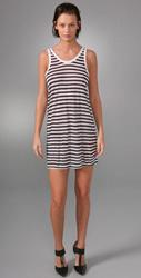 t by alexander wang striped baggy tank dress