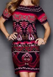suzy chin tribal print dress