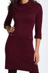 tahari by arthur s. levine sweater dress red