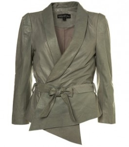 topshop grey leather jacket