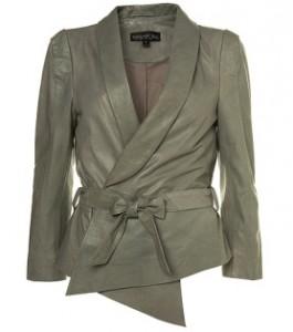 topshop grey leather jacket