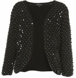 topshop knitted sequin cardigan