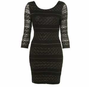 topshop lace bodycon dress