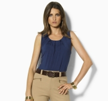 vatusia pleated scoopneck top
