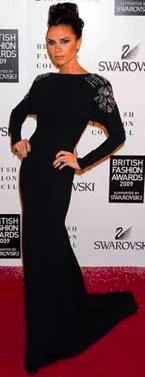 victoria beckham british fashion awards