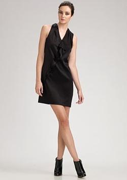 vince cascade silk dress