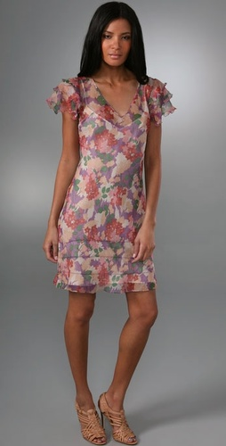 what comes around goes around floral dress