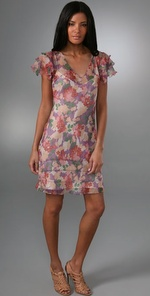 what comes around goes around floral gema dress