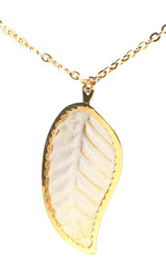 white leaf necklace
