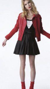 zac posen red leather jacket