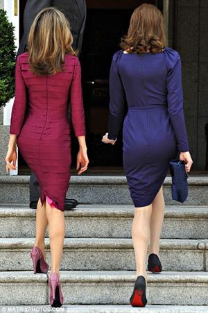 Princess Letizia Carla Bruni Michelle Obama. Princess Letizia and Bruni